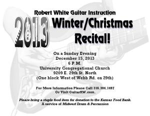 Guitar 2013 Winter Christmas Guitar Recital Flyer